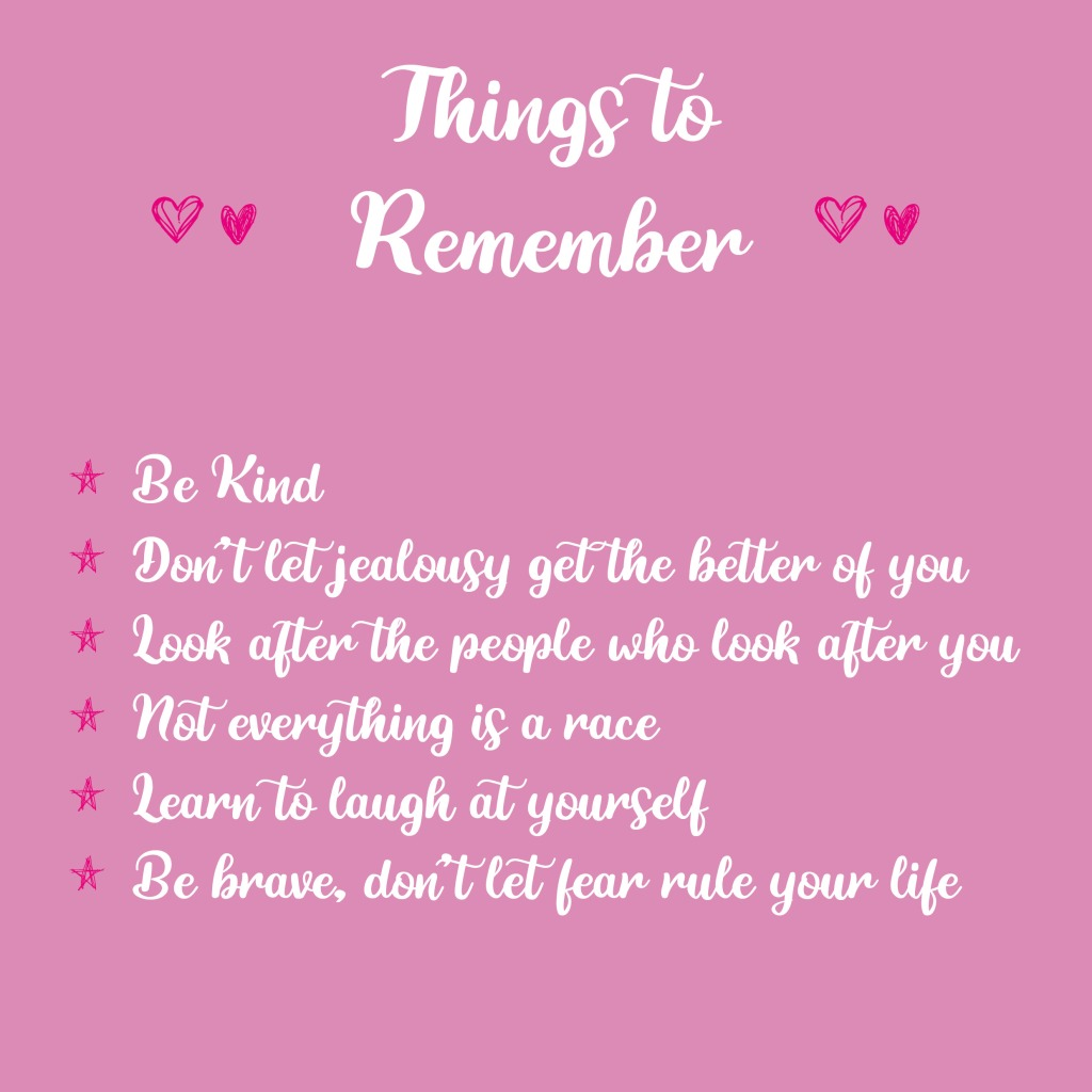 Things to remember - mental beauty